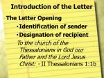 introduction of the letter3