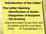 introduction of the letter4