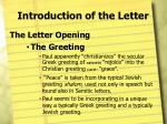 introduction of the letter6