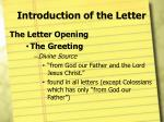 introduction of the letter7