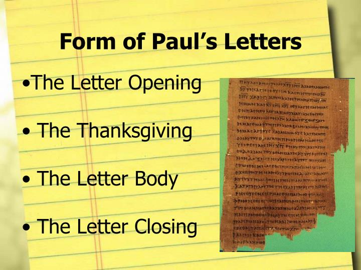 Form of Paul's Letters