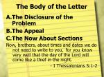 the body of the letter2