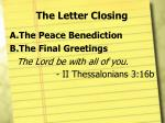 the letter closing1
