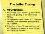 the letter closing12