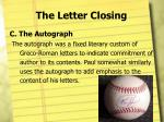 the letter closing3