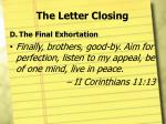 the letter closing5