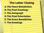 the letter closing8