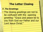 the letter closing9