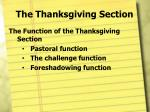 the thanksgiving section1