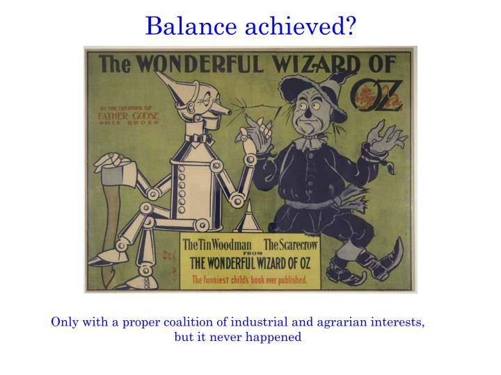 Balance achieved?