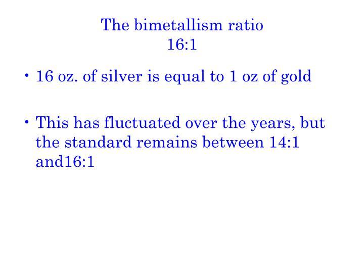 The bimetallism ratio