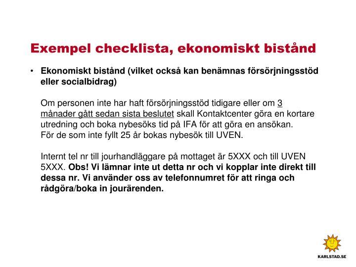Exempel checklista,