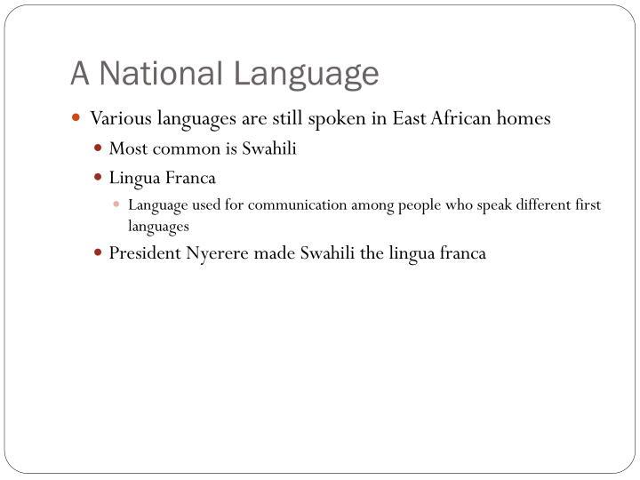 A National Language