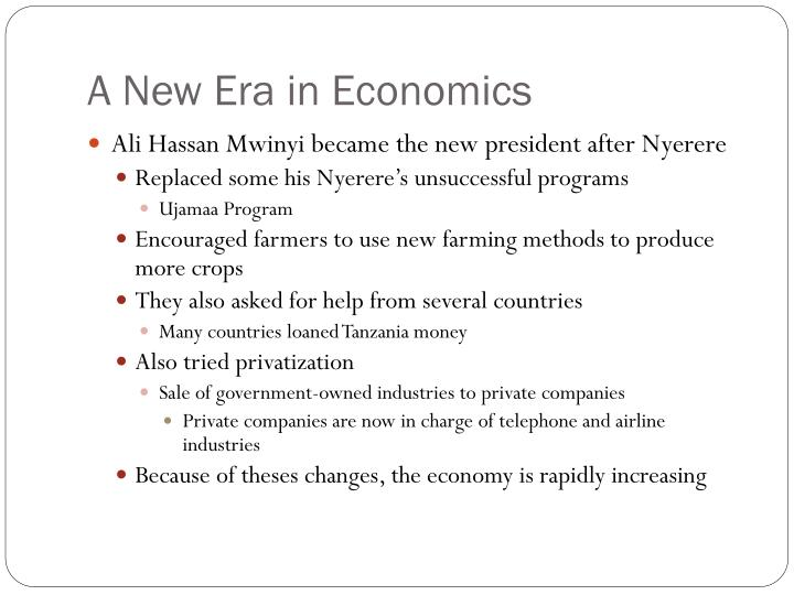 A New Era in Economics