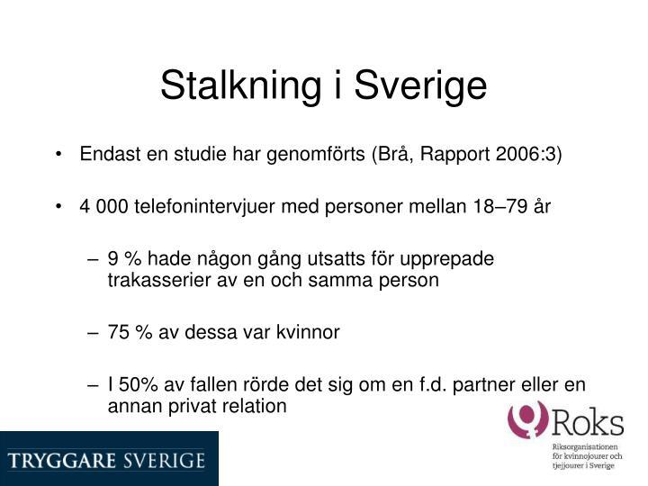 Stalkning i Sverige