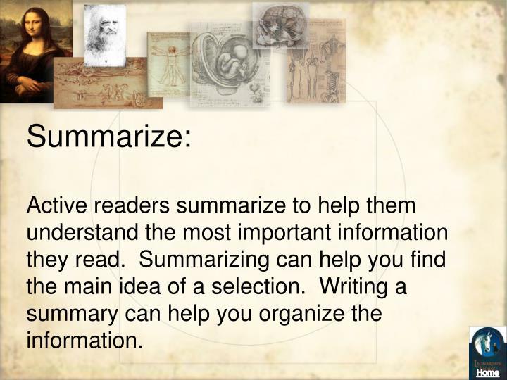 Summarize: