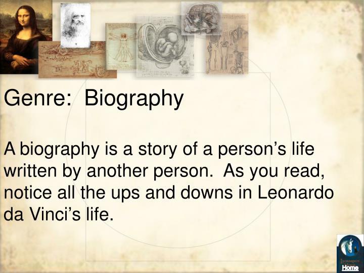 Genre:  Biography