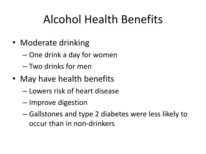 Alcohol Health Benefits