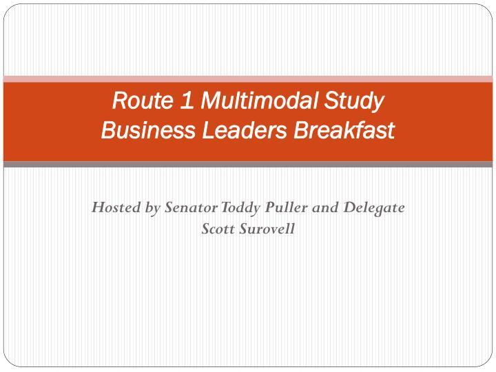 Route 1 multimodal study business leaders breakfast