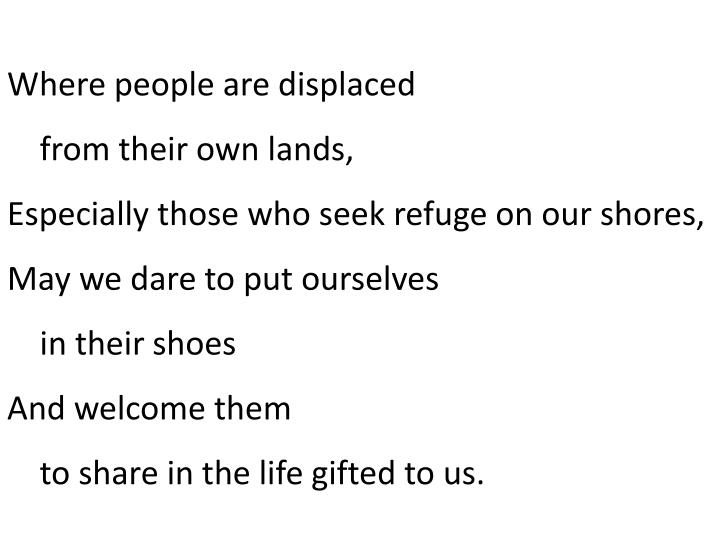 Where people are displaced