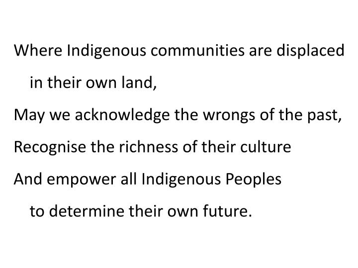 Where Indigenous communities are displaced
