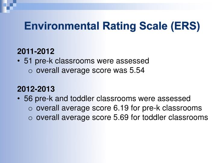 Environmental Rating Scale (ERS)