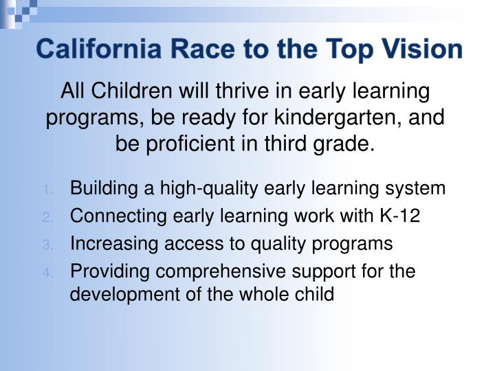 California Race to the Top Vision