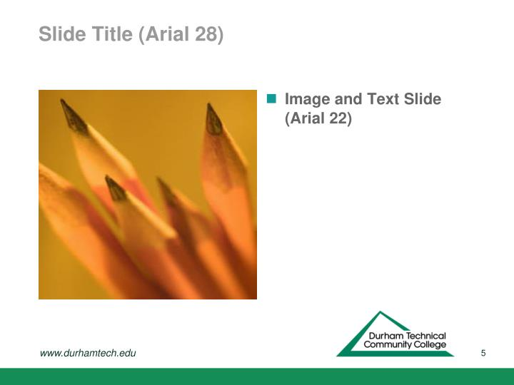 Slide Title (Arial 28)