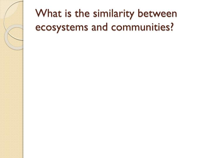 What is the similarity between ecosystems and communities?