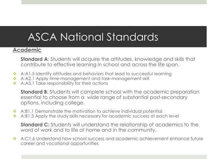 ASCA National Standards
