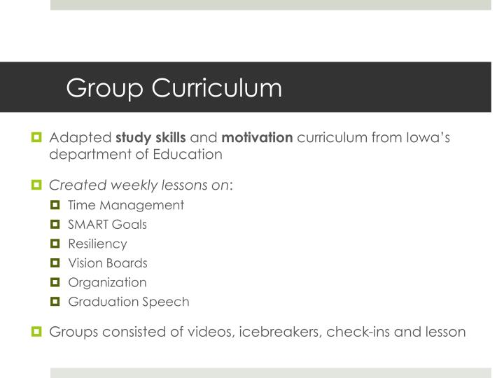 Group Curriculum