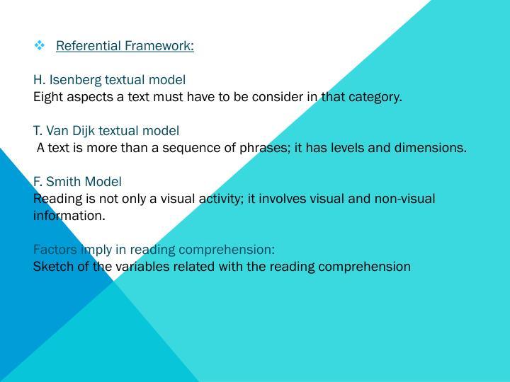 Referential Framework: