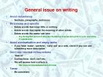 general issue on writing