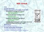nsf format
