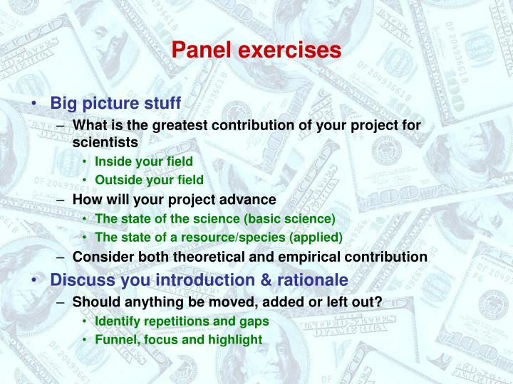 Panel exercises