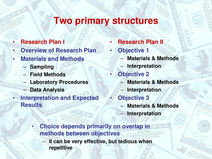 Research Plan I
