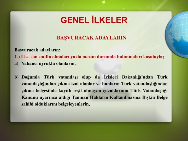 GENEL LKELER
