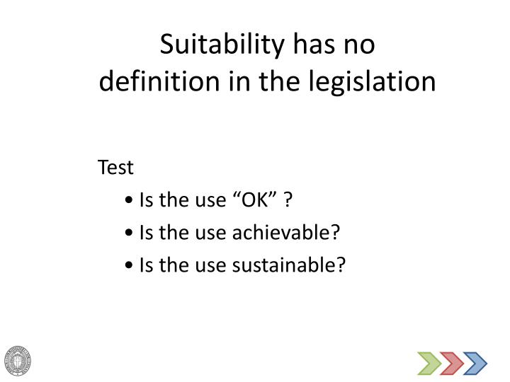 Suitability has