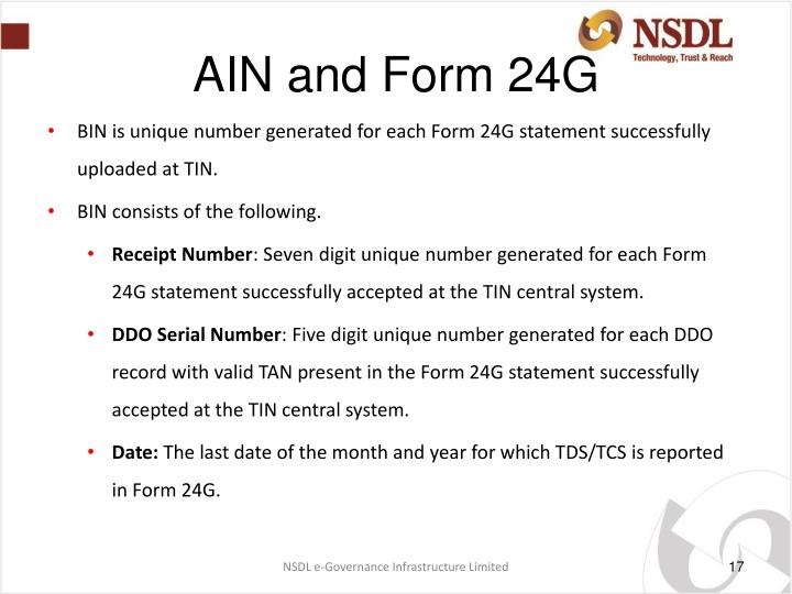 AIN and Form 24G
