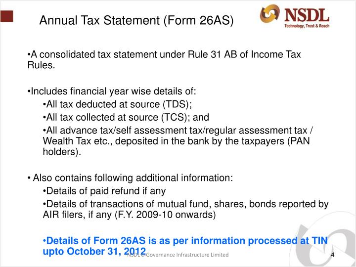 Annual Tax Statement (Form 26AS)