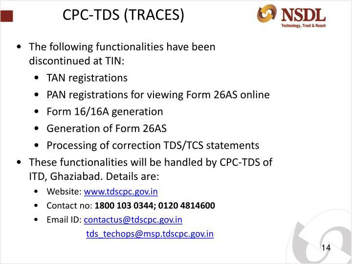 CPC-TDS (TRACES)