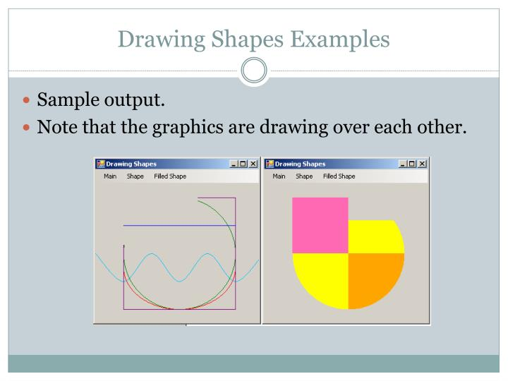 Drawing Shapes Examples