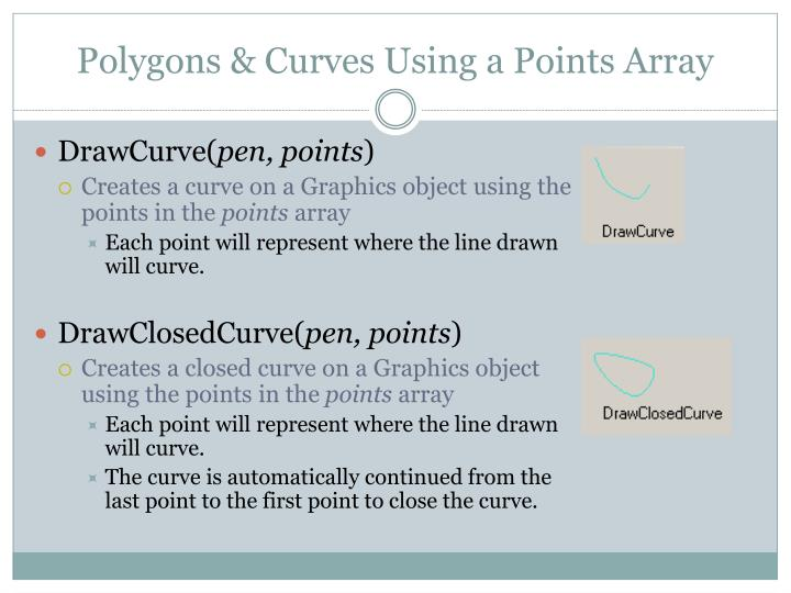 Polygons & Curves Using a Points Array