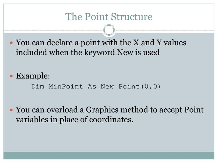 The Point Structure