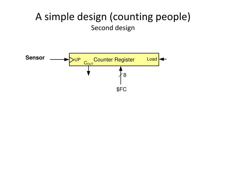 A simple design (counting people)