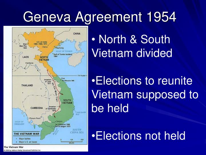 North & South Vietnam divided