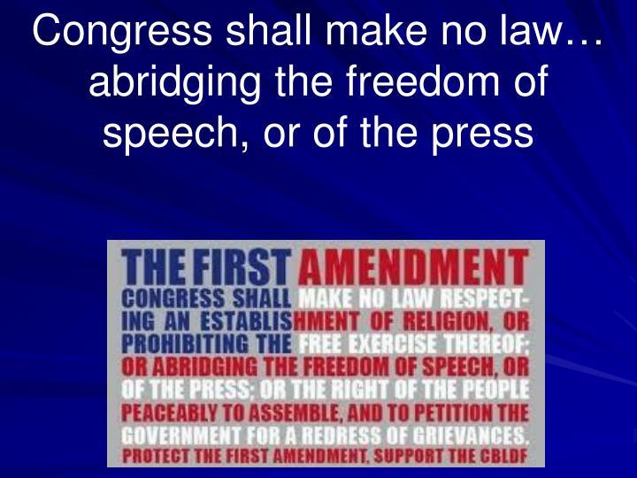 Congress shall make