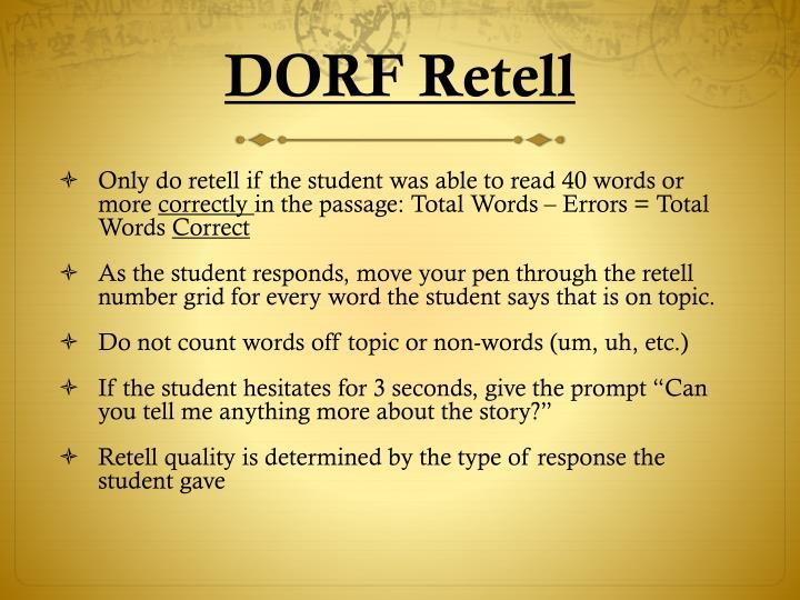 DORF Retell