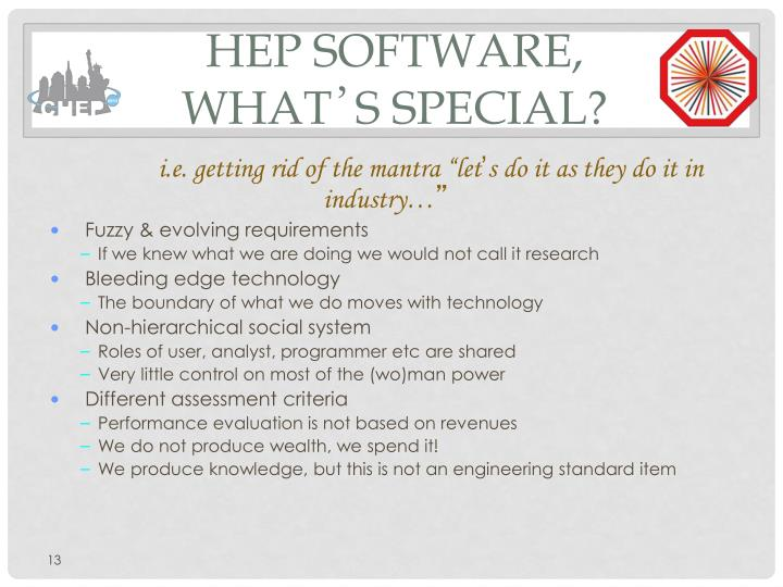 HEP Software, what