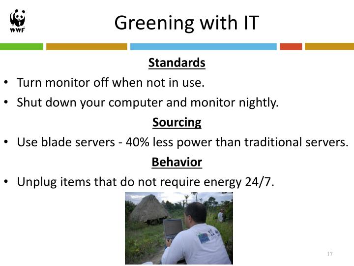Greening with IT